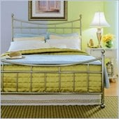 American Drew Camden Metal Bed in Nickel 5 Piece Bedroom Set