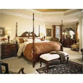 American Drew Cherry Grove Wood Poster Bed 5 Piece Bedroom Set