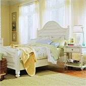 American Drew Camden Wood Panel Bed 5 Piece Bedroom Set in Buttermilk