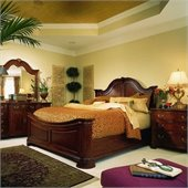 American Drew Cherry Grove Mansion Wood Panel Bed 5 Piece Bedroom Set