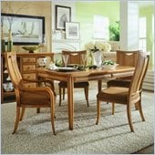 American Drew Antigua Rectangular Casual Dining Set in Toasted Almond Finish
