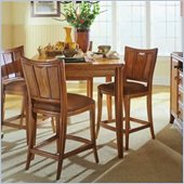 American Drew Antigua Rectangular Gathering Table Set in Toasted Almond Oak Finish