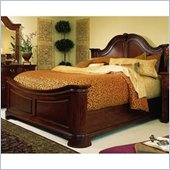 American Drew Cherry Grove Mansion Wood Panel Bed 4 Piece Bedroom Set in Antique Cherry