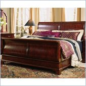 American Drew Cherry Grove Wood Sleigh Bed 4 Piece Bedroom Set in Antique Cherry
