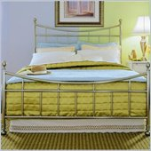 American Drew Camden Metal Bed in Nickel 3 Piece Bedroom Set