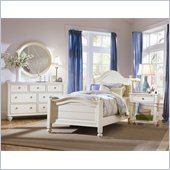 American Drew Camden Wood Panel Bed 4 Piece Bedroom Set in Buttermilk