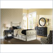 American Drew Camden Metal Bed in Brushed Nickle Finish 4 Piece Bedroom Set