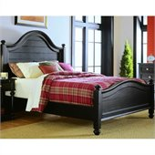 American Drew Camden Black Wood Panel Bed 3 Piece Bedroom Set