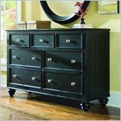 American Drew Camden 7 Drawer Double Dresser in Black Finish