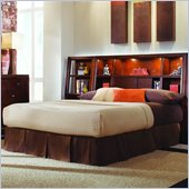 American Drew Tribecca Bookcase Bed in Root Beer Finish