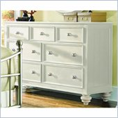 American Drew Camden 7 Drawer Double Dresser in Buttermilk