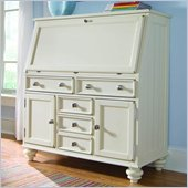 American Drew Camden Drop Lid Work Station in Buttermilk