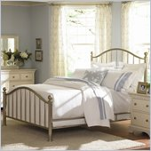 American Drew Ashby Park King Size Nickel Plated Metal Bed
