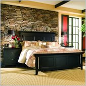American Drew Sterling Pointe Wood Panel Bed in Black 2 Piece Bedroom Set