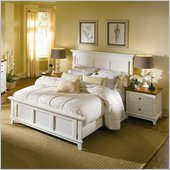 American Drew Sterling Pointe Off-White Wood Panel Bed 2 Piece Bedroom Set