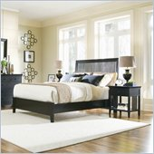 American Drew Sterling Pointe Black Wood Slat Bed 2 Piece Bedroom Set