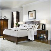American Drew Sterling Pointe Wood Slat Bed 2 Piece Bedroom Set in Cherry Finish