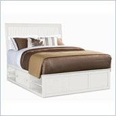 American Drew Sterling Pointe Wood Storage Platform Bed in Off-White 2 Piece Bedroom Set