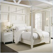 American Drew Sterling Pointe Off-White Wood Poster Bed 2 Piece Bedroom Set