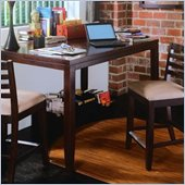 American Drew Tribecca Square Gathering Table Set in Rich Dark Root Beer Finish