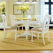 American Drew Camden Round/Oval Casual Dining Set in Buttermilk Finish