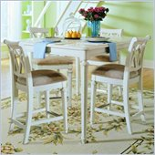 American Drew Camden Square Gathering Table Set in Buttermilk Finish