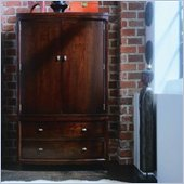 American Drew Tribecca TV/Wardrobe Armoire in Root Beer Finish