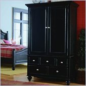 American Drew Camden Black TV/Wardrobe Armoire