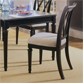 American Drew Camden Splat Back Fabric Casual Side Chair in Black Finish