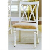American Drew Camden Splat Back Fabric Casual Side Chair in Buttermilk