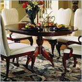 American Drew Round Formal Dining Table in Antique Cherry Finish