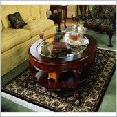 American Drew Cherry Grove Oval Glass Top Coffee Table
