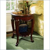 American Drew Cherry Grove Oval End Table in Classic Antique Cherry Finish