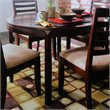 ADD TO YOUR SET: American Drew Tribecca Round Leg Casual Dining Table in Brown Finish