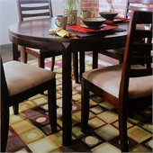 American Drew Tribecca Round Leg Casual Dining Table in Brown Finish