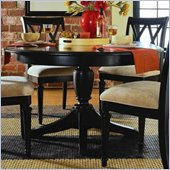 American Drew Camden Round Casual Dining Table in Black Finish