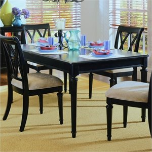 American Drew Camden Extendable Dining Table in Black