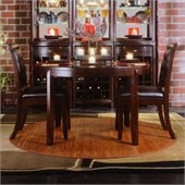 American Drew Tribecca Round Casual Dining Set in Dark Root Beer Finish