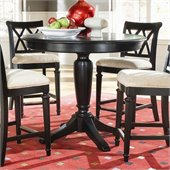 American Drew Camden Black Round Counter Height Pedestal Table