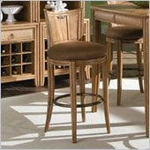 American Drew Antigua Round Counter Height Swivel Stool in Toasted Almond Finish