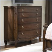 American Drew Jessica McClintock Couture 5 Drawer Dressing Chest in Mink Finish