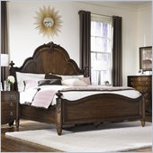American Drew Jessica McClintock Couture Mansion Bed in Mink Finish
