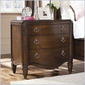 American Drew Jessica McClintock Couture 3 Drawer Nightstand in Mink Finish
