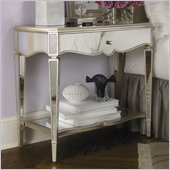 American Drew Jessica McClintock Couture Mirrored Nightstand in Silver Leaf