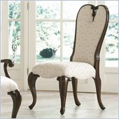 American Drew Jessica McClintock Couture Upholstered Fabric Side Chair in Mink
