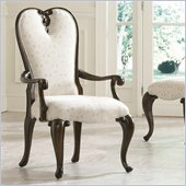 American Drew Jessica McClintock Couture Upholstered Fabric Arm Chair in Mink
