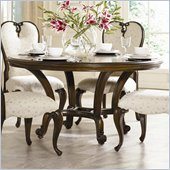 American Drew Jessica McClintock Couture 60 Round Formal Dining Table in Mink