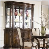 American Drew Jessica McClintock Couture Palladian China Cabinet in Mink