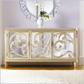 American Drew Jessica McClintock Couture Stone Top Buffet in Silver Leaf