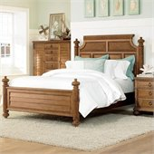 American Drew Grand Isle Island Panel Bed in Amber Finish